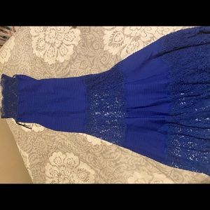 Tadashi Shoji Royal Blue Lace Gown